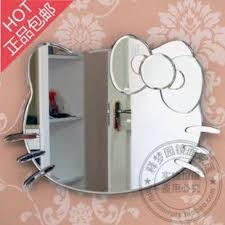 hello kitty mirror wall clock home design ideas