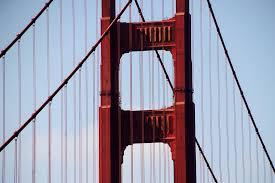 san francisco golden gate bridge colour orange the in the