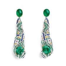 chaumet earrings est une fête pastorale anglaise emerald earrings chaumet the