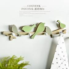 free shipping pastoral style wooden green singing bird wall