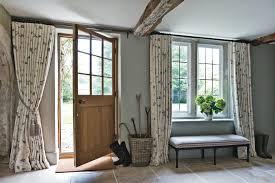 contemporary curtains ideas entry farmhouse with floral curtains