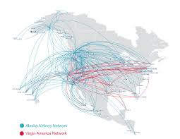 Skywest Route Map by Network Impact Alaska Airlines Acquires Virgin America