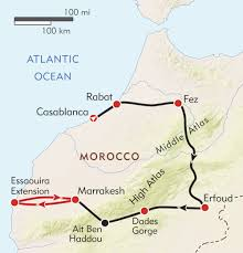 Morocco Africa Map by Morocco Private Journey Itinerary U0026 Map Wilderness Travel