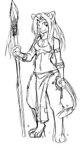 sketch tribal lioness by lunarez on deviantart