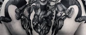 50 goat skull tattoo designs for men manly ink ideas