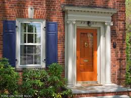 Modern Front Door Decor by Tone On Tone Storm Doors Ideas And Inspirations