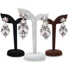 earring holder for studs new arrival 4 color velvet earring display stand props stud