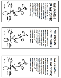 parable of the sower coloring page the parable of the sower sunday