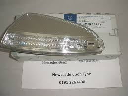 mercedes c class wing mirror mercedes c class w204 passenger nearside wing mirror led indicator