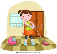 clean the house illustration woman using vacuum cleaner clean stock photo photo
