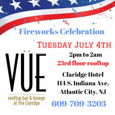 halloween party in atlantic city fireworks rooftop party 7 4 vue rooftop at claridge hotel in