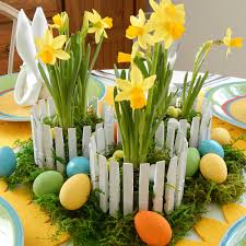 Inexpensive Easter Table Decorations by Easy Easter Centerpiece