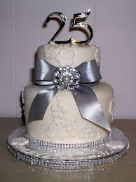 11 romantic 25th anniversary cake decorating ideas silver wedding