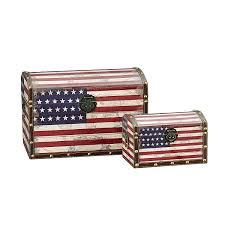 How To Dispose Of An American Flag When Torn Amazon Com Household Essentials Decorative Storage Trunk