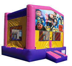 bounce house rentals houston c despicable me blue or pink moonwalk moonwalks houston rentals