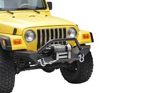 jeep winch bumper country rock crawler full width front winch bumper 87 06 wrangler