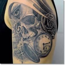 más de 25 bellas ideas sobre tatuajes de rosa de calavera en