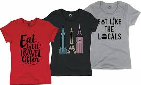 themed t shirts travel themed t shirts for women groupon goods