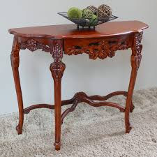Ebay Console Table international caravan windsor hand carved walnut stain console
