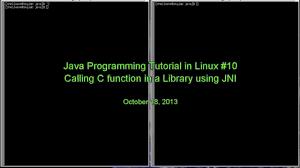 Jni Tutorial Linux | java programming tutorial in linux 010 java native interface jni