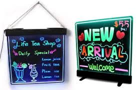 lighted message board signs lighted writable menu board led message board display billboard led
