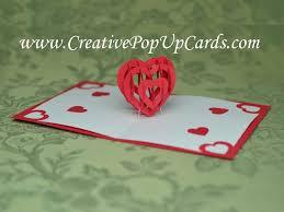 custom card template 3d heart pop up card template free card