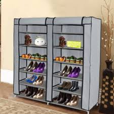 buy freedancer portable storage closet shoe organizer rack with 2