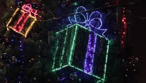 Decorative Christmas Boxes With Lights by Ungraded Decorated Christmas Tree With Flashing Gift Boxes And