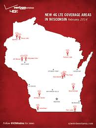 Verizon Coverage Maps Expanded 4g Lte Network Coverage Throughout Wisconsin About Verizon