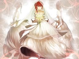 wedding dress anime anime character wearing wedding dress hd wallpaper