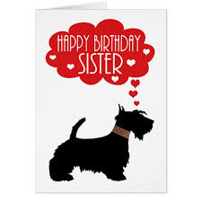 birthday with silhouette scottish terrier card zazzle