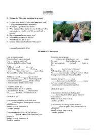 20 free esl memories worksheets