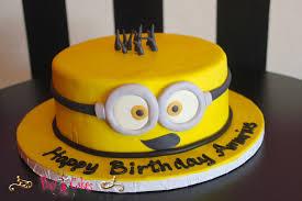 minion birthday cake ideas pixy cakes birthday cake 1 tier boy girl despicable me minion