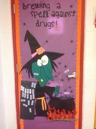 halloween decorations doors by design it didnt take much to jazz