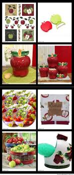 kitchen Delightful Apples For The Kitchen Country Green Themed