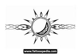 tribal sun armband design