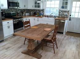 Dining Buy A Handmade Reclaimed Wood Kitchen Table With Base - Rustic wood kitchen tables