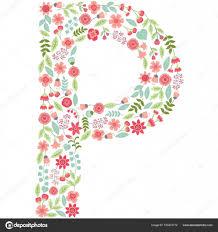 imagenes en ingles con la letra p vetor floral carta p vector floral abc alfabeto floral inglês