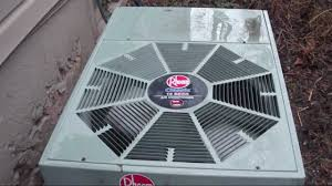 Exterior Central Air Conditioner Cover - 2000 rheem classic 10 seer 3 ton air conditioner at a barber shop