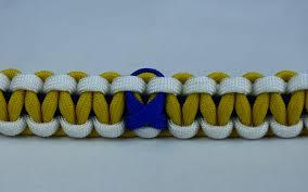 navy blue ribbon navy blue white and yellow anti bullying paracord bracelet w