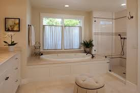 Neutral Color Bathrooms - apron front bathroom bathroom traditional with glass shower doors