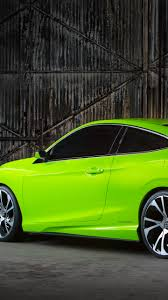 car honda civic backgrrounds download download wallpaper 1440x2560 honda civic concept green 2015