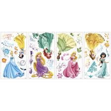 disney princess royal debut peel and stick wall decals disney princess decals wall glitter jpg
