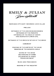 Wedding Bulletin Wedding Programs Match Your Colors U0026 Style Free Basic Invite