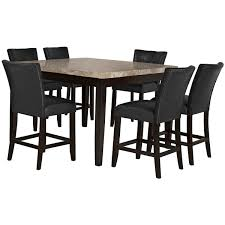 Tall Dining Room Sets Monark Square Marble High Dining Table