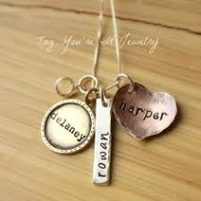 children s name necklace family of four sterling silver necklace two adults two