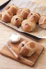 recette de cuisine anglais cross buns raisins secs brioche anglaise pâques sans lactose