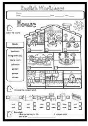 13 best images of room house worksheets living parts of the