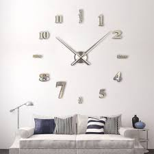 Clock Home Decor Large Luxury Diy 3d Wall Clock Home Decor Bell Cool Mirror