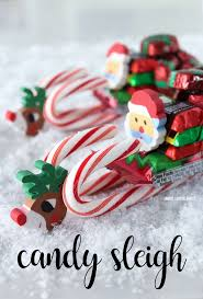 santa candy sleigh christmas craft candy sleigh craft and holidays
